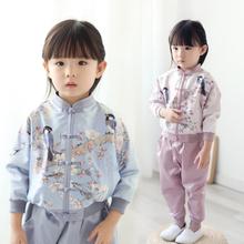 改良款hz秋新式童装gn式棒球服套装民族风女童汉服
