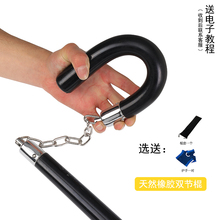 天然橡hz 李(小)龙二to实战双截棍 练习两节棍实战表演棍