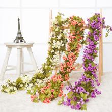 72头hz真玫瑰花藤bn藤条藤蔓假花空调管道室内婚庆装饰 花条