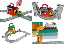ISHhzR-PRIhg费雪托马斯修理棚/发动机清洗THOMAS玩具轨道套装