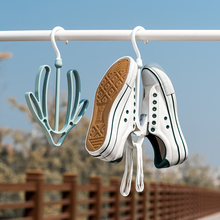 日本进hz阳台晒鞋架rk多功能家用晾鞋架户外防风衣架挂鞋架子