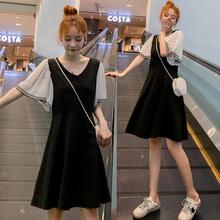 哺乳衣hz装连衣裙2nz时尚新式夏季短袖显瘦中长裙子外出喂奶衣服