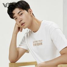 VGOhz色男T恤潮cs烫金印字个性莫代尔休闲港风短袖休闲夏天