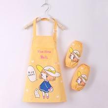 宝宝罩hz防水画画衣gr孩幼儿园绘画衣(小)学生书法美术围裙护衣