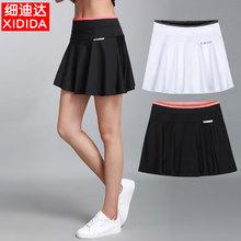 运动裤hz女夏新式羽wl球健身瑜伽跑步半身短裙速干透气百褶裙
