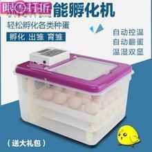 家用孵ia机全自动设as鸭孵化箱电(小)型鸡蛋浮化箱f孵化