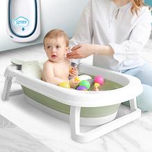 婴儿浴ia宝宝洗澡盆ul坐沐浴桶可折叠可躺加厚加大号洗头躺椅