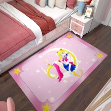美少女ia士地毯动漫ul爱粉色少女心公主房卧室床边垫电竞椅子