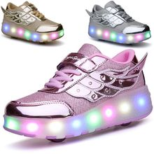 暴走鞋双轮滑ic鞋儿童鞋子le滑鞋女童男童运动鞋旱冰鞋溜冰鞋