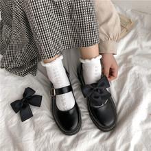 单鞋女id020春式ia皮鞋女韩款百搭夏天英伦日系jk黑色lolita鞋
