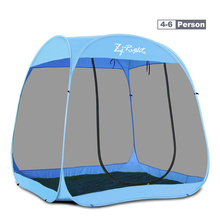 全自动if易户外帐篷dz-8的防蚊虫纱网旅游遮阳海边沙滩帐篷