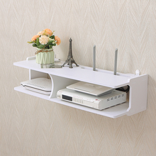 电视机顶盒置物架免打if7路由器收ng墙壁挂架客厅卧室投影仪