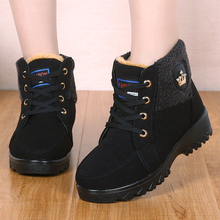 冬季新款老北京布鞋女if7鞋中老年ng高帮妈妈厚底防滑女短靴