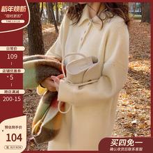 202ig新式秋冬季g7织连衣裙女中长式毛衣裙过膝长裙淑女气质