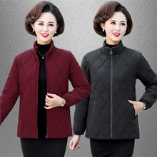 中老年女装秋冬棉ig5短式中年at绒棉服大码妈妈冬装棉袄外套