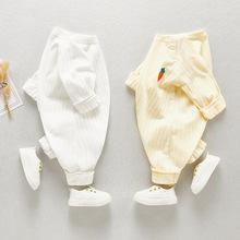 202ih婴儿连体衣ll婴童装纯色爬爬服婴幼儿服饰可爱男宝爬爬服