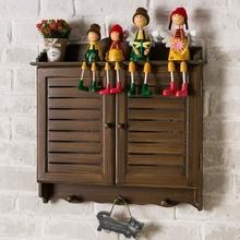 美式复ii木质百叶假9x电箱装饰遮挡壁挂做旧大号配电箱遮挡。