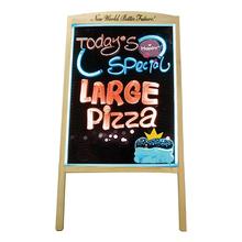 比比牛ilED多彩5ve0cm 广告牌黑板荧发光屏手写立式写字板留言板宣传板