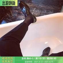 佐印男il日系商务锦ve长筒薄式透气绅士性感防臭黑色正装西装