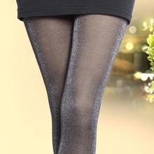 时尚防il丝假透肉打er穿秋冬式加绒加厚丝袜女士肉色踩脚显瘦
