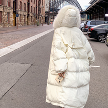 棉服女il020新式er包服棉衣时尚加厚宽松学生过膝长式棉袄外套