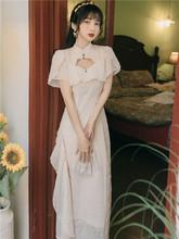 [impac]法式复古仙女收腰连衣裙年