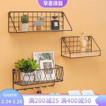 [impac]免打孔墙上置物架创意客厅