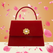 [infin]高级感丝绒手提包秀禾中式婚礼包包