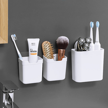 韩国浴in吸盘置物架er卫生间墙上壁挂收纳盒免打孔沥水牙刷架