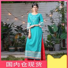 野的(小)in 印度女装ra印花纯棉 民族风七分袖服饰上衣2020新式