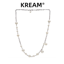 KREinM原创 张os式Steel Pearl Necklace贝珠男女嘻哈