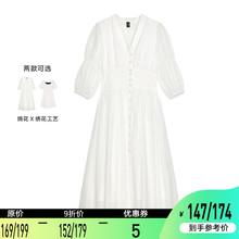 【9折in(小)花朵女2cp夏装收腰显瘦气质法式桔梗裙子