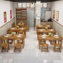 饭店餐in桌椅大排档ad滑板凳四的定制高脚凳餐椅防腐木火锅