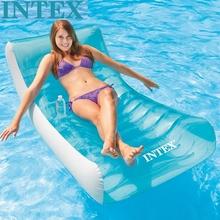 原装正inINTEXhi叠靠背躺椅水上浮排浮床海滩垫充气垫