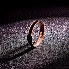韩京日ir时尚气质钛yn瑰金情侣食指戒指男女式指环手饰品