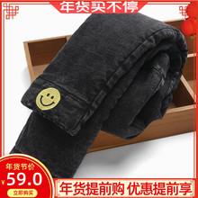 女童牛is裤加绒加厚be穿三层棉裤保暖中大童宝宝女弹力(小)脚裤