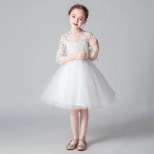 宝宝礼服公主裙女is5蓬蓬纱(小)be婚纱裙12岁女孩子钢琴演出服