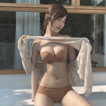 文胸套is性感(小)胸聚re上托防滑胸罩无肩带美背内衣女无钢圈