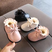 202is秋冬新式0ni女宝宝短靴子6-12个月加绒公主棉靴婴儿学步鞋2