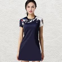 羽毛球套装春it3款女连衣te乓运动速干时尚比赛短长袖韩国服