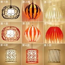 北欧时it餐厅圆形单ph灯美发店创意现代餐桌单个装饰网咖吊灯