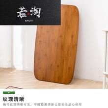床上电iu桌折叠笔记of实木简易(小)桌子家用书桌卧室飘窗桌茶几