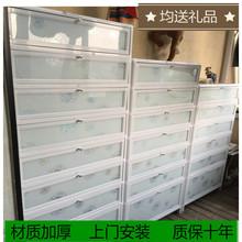 户外防iz防晒铝合金dd易不锈钢鞋柜架阳台室外大容量家用鞋柜