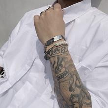 SAZ 2019iz5款INSnt冷淡风圣母圆牌珍珠可调节链条手链男女
