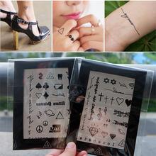 韩国英文自iz2防水纹身nt女持久创意(小)贴纸情侣遮疤痕2张