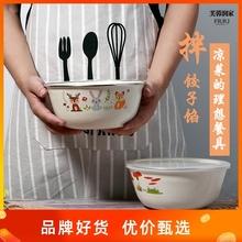 加厚搪j0碗带盖怀旧hn老式熬药汤盆菜碗家用电磁炉燃气灶通用