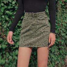 202j1夏装新式高22显瘦牛仔半身裙ins风豹纹复古a字包臀短裙女