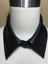 私人定制皮衣换领子纯色单
