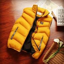 秋冬季j3甲男式韩款3t男羽绒棉夹克红色外套潮牌马夹帅气坎肩