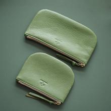 女式真ja零钱包牛皮ll式(小)钱包文艺长式手包零钱袋手机硬币软